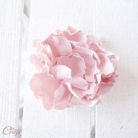 Fleur rose poudré coiffure de mariée - Accessoire mariage boheme