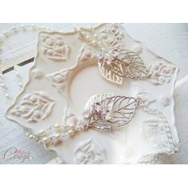 "Headband mariage bohème chic perles strass Swarovski feuilles  ""Gipsy"""