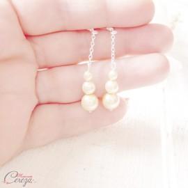 "Boucles d'oreille mariee perles simples et originales ""Alma"""