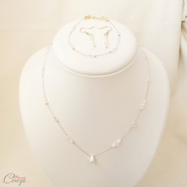 "Boucles d'oreille mariée rétro perles et cristal Swarovski "" Samara "" Bijou mariage"
