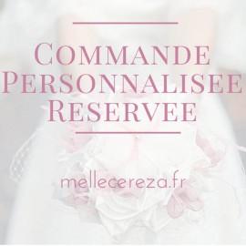 Mariage vert menthe blanc porte-alliances Duo de fleurs personnalisé