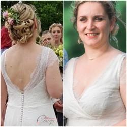 """Collier de dos nu argent champêtre chic pour robe de mariée dos nu feuille  """"Ainoha""""  Bijou mariage personnalisable"""