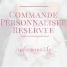 Accessoires mariage fleurs rouge sur-mesure réservés S.