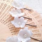 """Pics fleurs bijoux accessoire coiffure mariage """"Cecilia"""""""