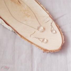 Collier mariage simple chic cristal Swarovski minimaliste 'Joy' - bijou mariage