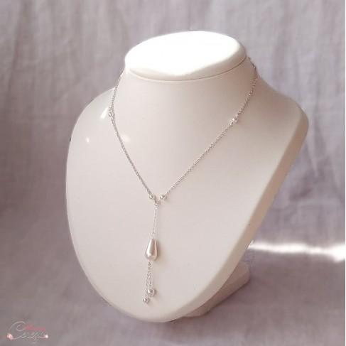 collier perle goute