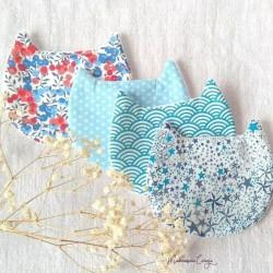 Lingettes chat lavables assorties tons bleu