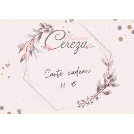 30 € carte cadeau Mademoiselle Cereza