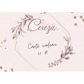 40 € carte cadeau Mademoiselle Cereza