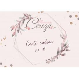 50 € carte cadeau Mademoiselle Cereza