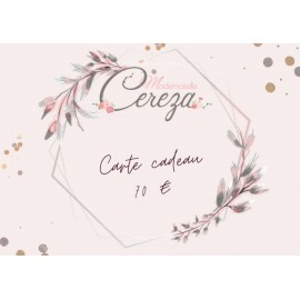 70 € carte cadeau Mademoiselle Cereza