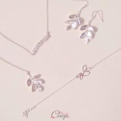 """Parure bijoux mariage champêtre chic """"Beauté Divine"""""""