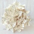 """Bouquet de mariée origami partition de musique """"Quelques notes de nous"""""""
