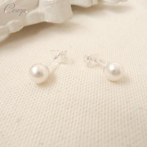 """Boucles d'oreille mariée perle """"Secret"""""""