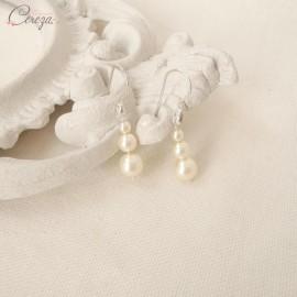 """Boucles d'oreille mariée pendantes """"Salomé"""""""