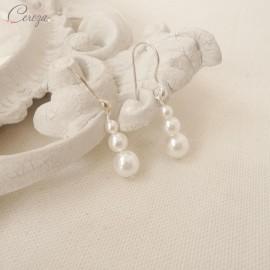 """Boucles d'oreille mariée perles pendantes """"Salomé"""""""