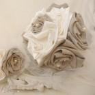 Bouquet de mariage champêtre chic lin perles 'Manon'