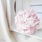 Bouquet de mariage bucolique Toile de Jouy rose ivoire Pauline