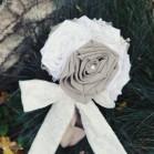 Bouquet de mariage campagne chic 'Jeanne' bijou et lin