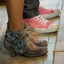 chaussures mariage original rose gris anne laure