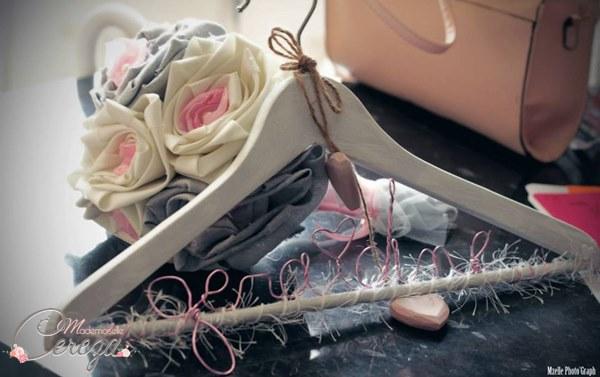 mariage ivoire rose gris bouquet mariee original tissu cereza mademoiselle 4