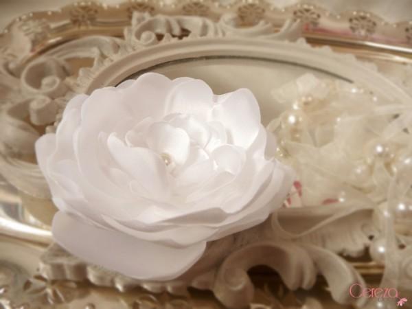 bijou de cheveux mariage fleur blanche  personnalisée cereza deco 1
