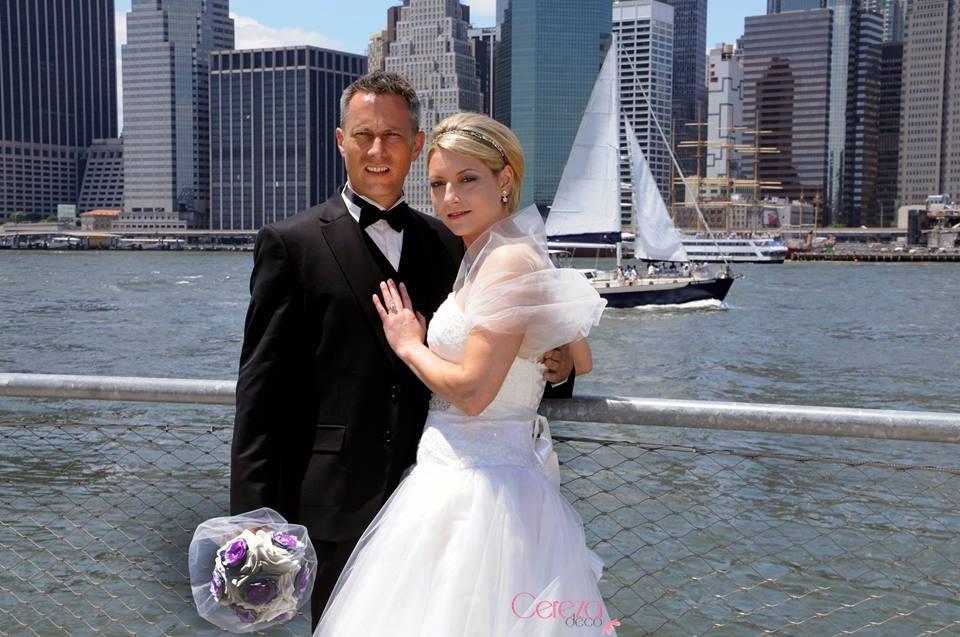 bouquet bijou de mariée éternel mariage à New York cereza deco