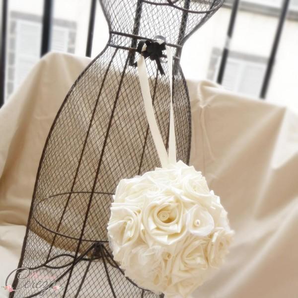 bouquet boule bouquet de mariée original éternel satin perle cereza 3