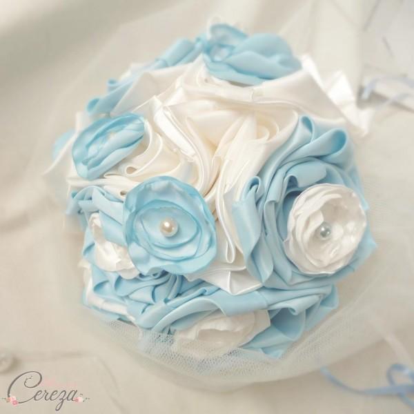 bouquet de mariée éternel à garder bleu ciel ivoire Cereza deco 8