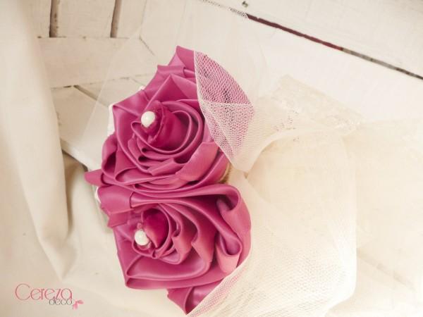 bouquet demoiselle honneur original tissu