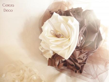 bouquet mariée ivoire chocolat b3
