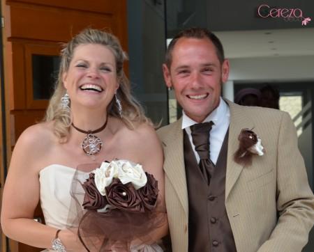 bouquet mariage original ivoire chocolat perle atypique éternel cereza deco