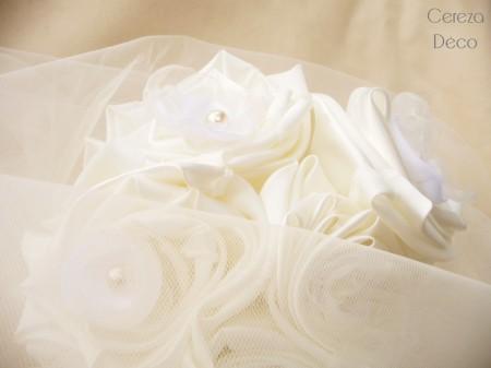 bouquet mariage original tissu blanc ivoire cereza deco 11