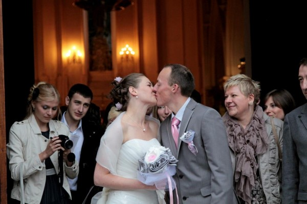 bouquet mariage original tissu blanc rose gris argent Anne Sophie (9)