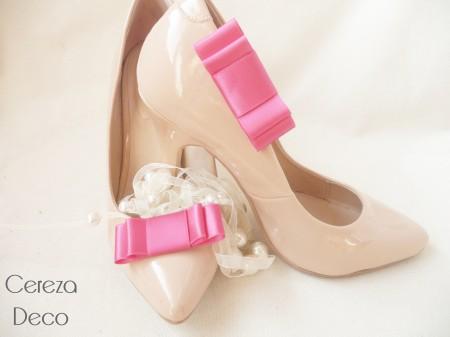 9b9f7657786cc clips chaussure mariage noeud satin rose fuchsia customiser escarpin nude  cereza deco 2