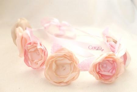 couronne fleurs mariage bijou de cheveux coiffure poudré rose ivoire nude beige cereza deco (4)