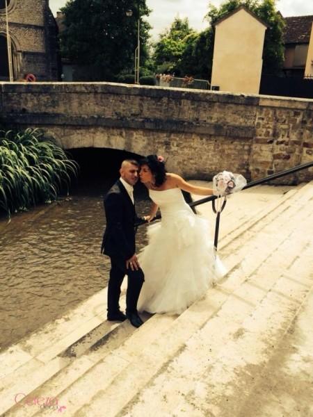mariage rose gris blanc bouquet de mariée bijou précieux cereza deco 1