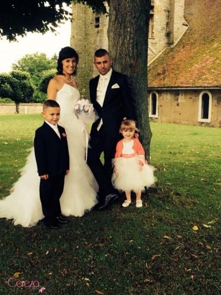 mariage rose gris blanc bouquet de mariée bijou précieux cereza deco 2