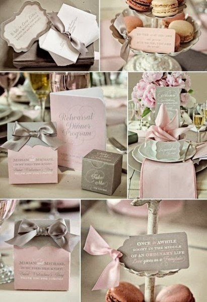 2b74dc9a42b Idées mariage rose gris personnalisé   planche d inspiration  1 ...