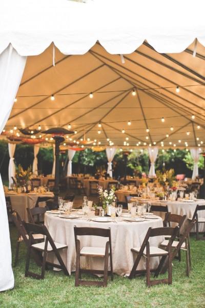 idée déco salle table barnum mariage champêtre campagne chic lin bucolique Melle Cereza blog mariage