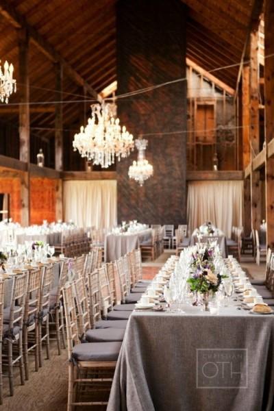 mariage bucolique grange champêtre campagne lin idée salle Melle Cereza blog mariage