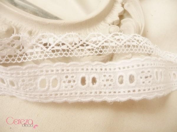 Dentelles pour finition bouquet de mariee tissu Mademoiselle Cereza Deco