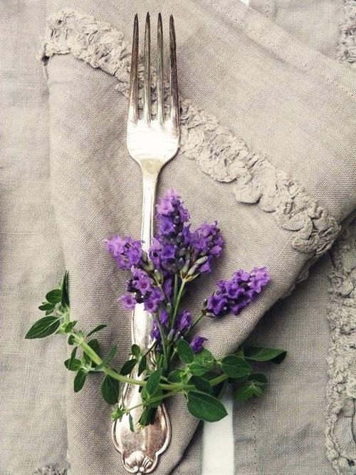 idée pliage serviette mariage champêtre campagne chic bucolique lin lavande Melle Cereza blog mariage