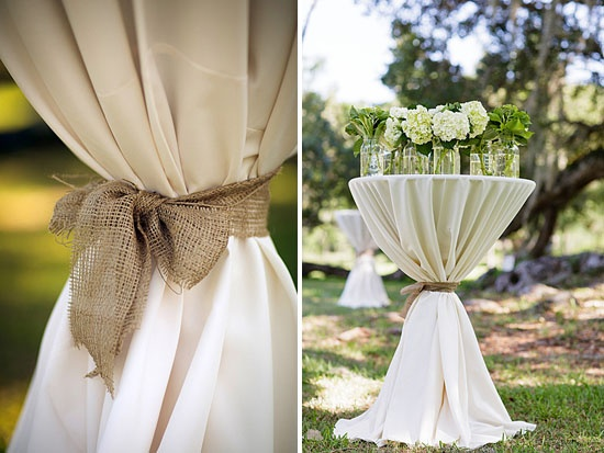 mariage champetre chic campagne lin nappe table d'appoint Melle Cereza blog mariage
