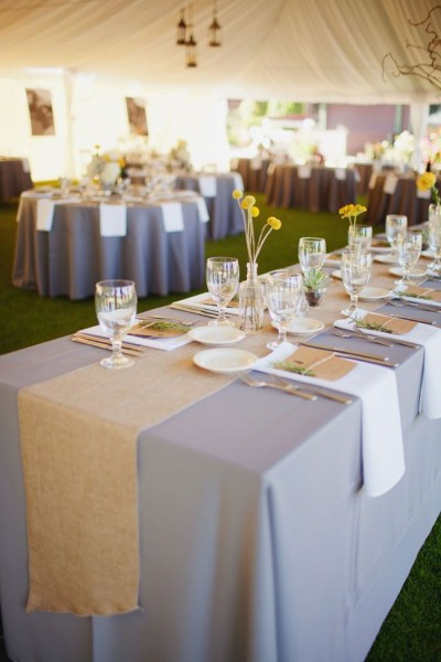 mariage champetre chic chemin de table campagne lin Melle Cereza blog mariage