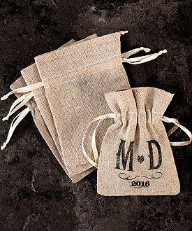 mariage champetre chic sachet cadeau invite campagne lin (4) Melle Cereza blog mariage