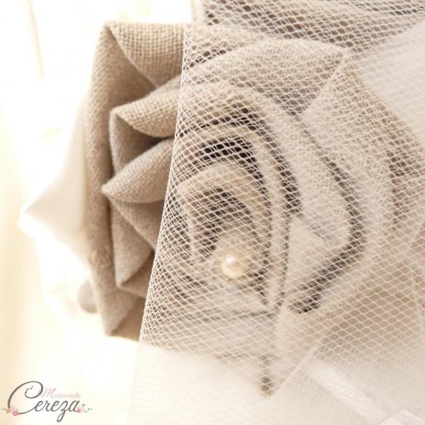 mariage champetre chic bouquet de mariée original lin satin cereza (3)