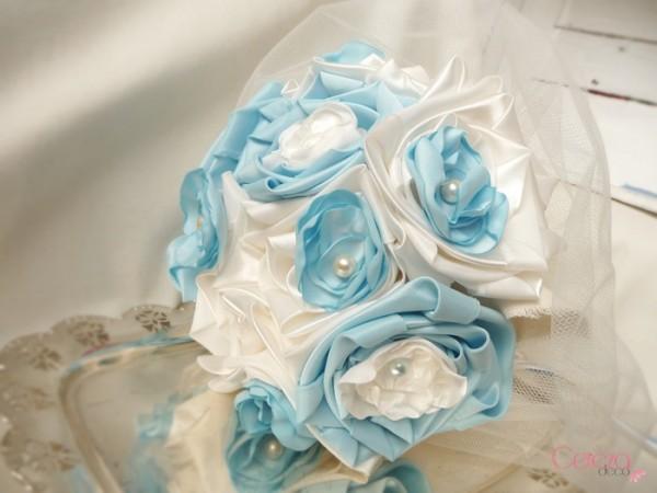 bouquet bijou bouquet de mariee eternel a garder bleu ciel ivoire Mademoiselle Cereza deco