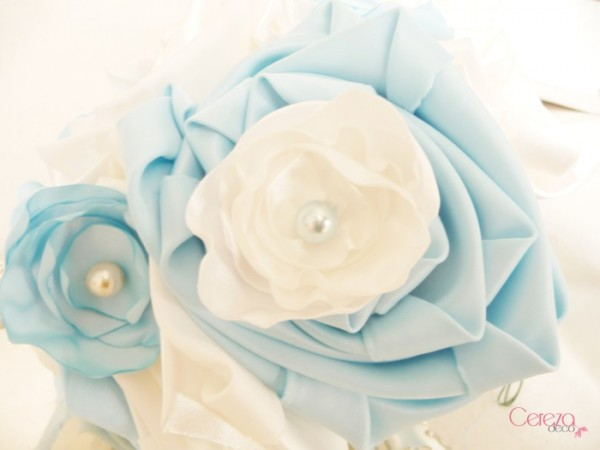 bouquet de mariée éternel à garder bleu ciel ivoire Cereza deco 3