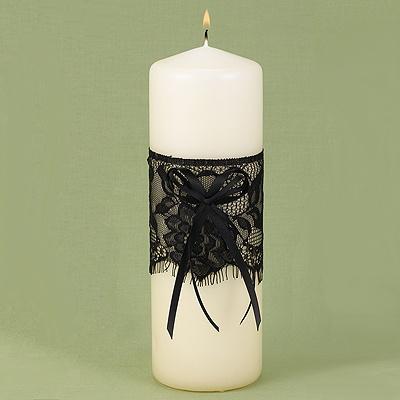 décoration mariage baroque bougie dentelle noire Mademoiselle Cereza blog mariage